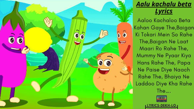 Aloo Kachaloo Beta Rhyme|Poem For Kids