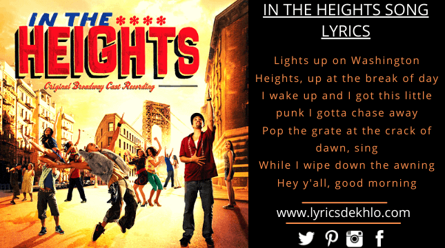 In The Heights Song Lyrics